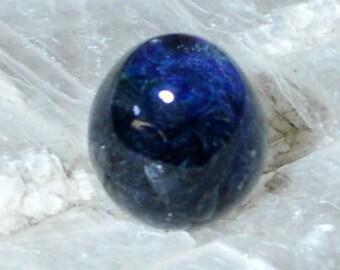 Twisted Honeycomb Cobalt Blue Glass Quail Egg - Handblown Glass