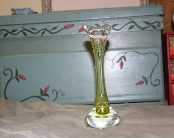 Lime Art Glass Vase