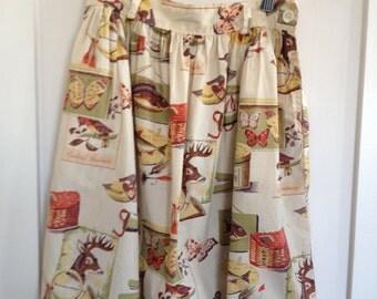 Collectible Vintage Banana Republic Hunting and Fishing Skirt