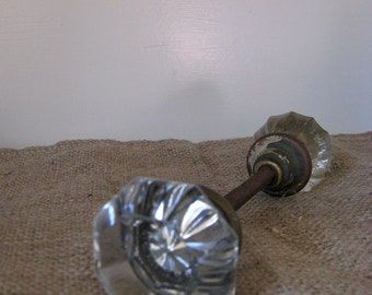 Large Glass Door Knob Set - Renovation - Salvage