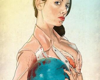 Slaughterhouse Starlets - Alison Brie Print