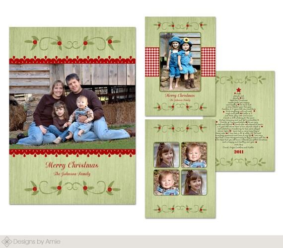 Country christmas multi photo holiday christmas card templates