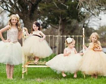 Ivory Junior Bridesmaid Tutu Skirt