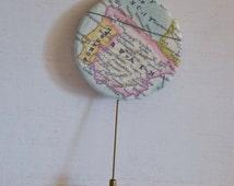 Spain Map Brooch