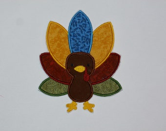Embroidered Iron On Applique- Fall Turkey