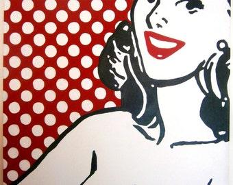 cute retro polka dot girl