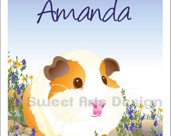 Guinea Pig  -  Wall Print  (or)  Greeting Cards