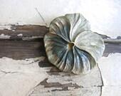 large wooden flower barrette. magnolia