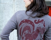 Rooster Cardigan - Tri Coffee