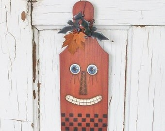 Hand Painted Freaky Frankie The Pumpkin Paddle