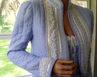Gunne Sax Dress and Jacket in Pure, Sky Blue 20% Off