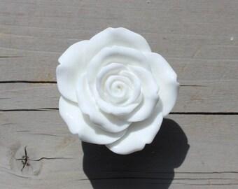 Rose Drawer Knobs - Cabinet Knobs in White (RFK14)