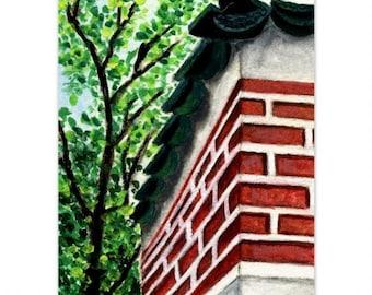 A Corner Of A Korean Palace Wall ~ wall art home deco (9)