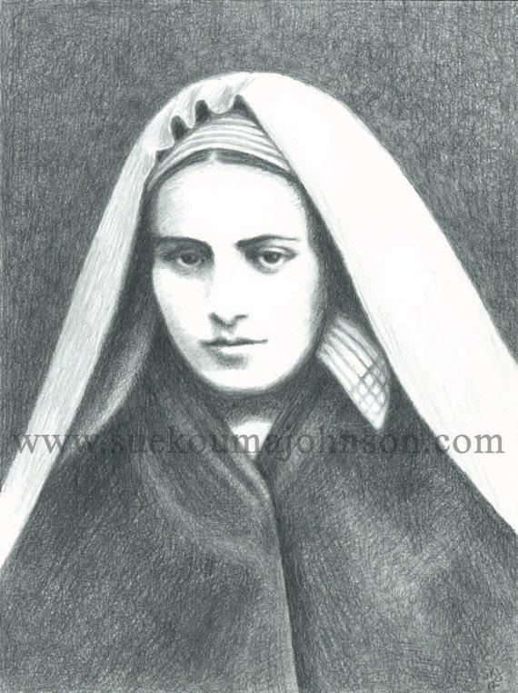 Patroness of the Sick St Bernadette of Lourdes Catholic