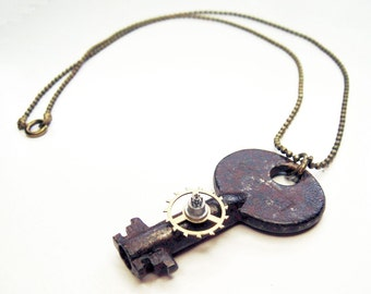Post Apocalyptic Key Necklace