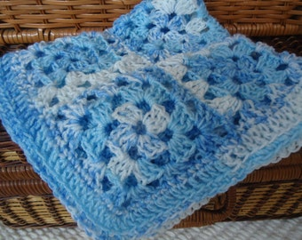 Lovie for Baby Boys in Soft Blue Cuddly Yarn