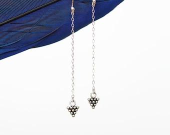 Sterling Silver Arrow Drop Earrings by Prairieoats