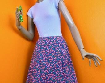 70s Mod Wrap Around Scooter Skirt - Homemade Strawberry Skirt