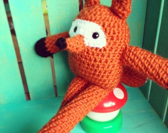 Crocheted Fox Doll- The Forest Friends Collection