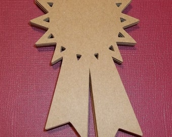 Award Ribbons-Tags-Brown Craft Cardstock or Your Color Choice