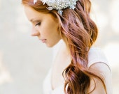Wedding Hair comb with Lace and Crystal Rhinestones Bridal Hair comb - Style 330