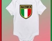 Custom tee shirt or bodysuit Italy Shield