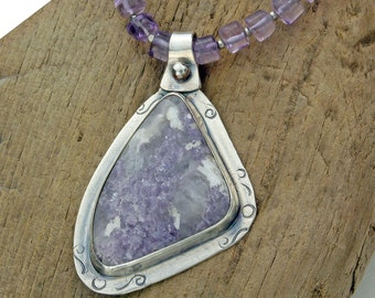 Amethyst and Sugilite Pendant in Sterling