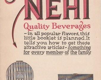 Vintage NEHI Bottling Company 12-Page Premium Catalog NEHI Quality Beverages