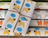 Gift Wrap - Pugs SPEAK Wrapping Paper Roll 2 Sheets 24x36-inch