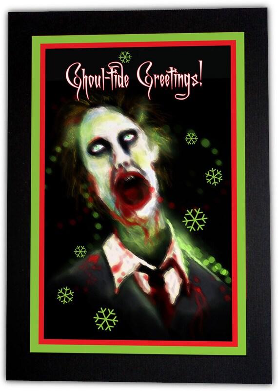 Ghoul-Tide Greetings Christmas Card