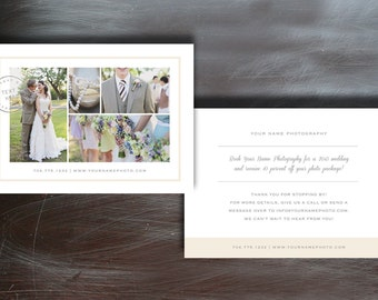 5x7 Press Card Flyer Design for Photographers - INSTANT DOWNLOAD - m0021