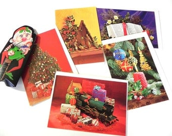 Vintage 1960s Christams Card Lot - 60s Xmas Cards Un-used