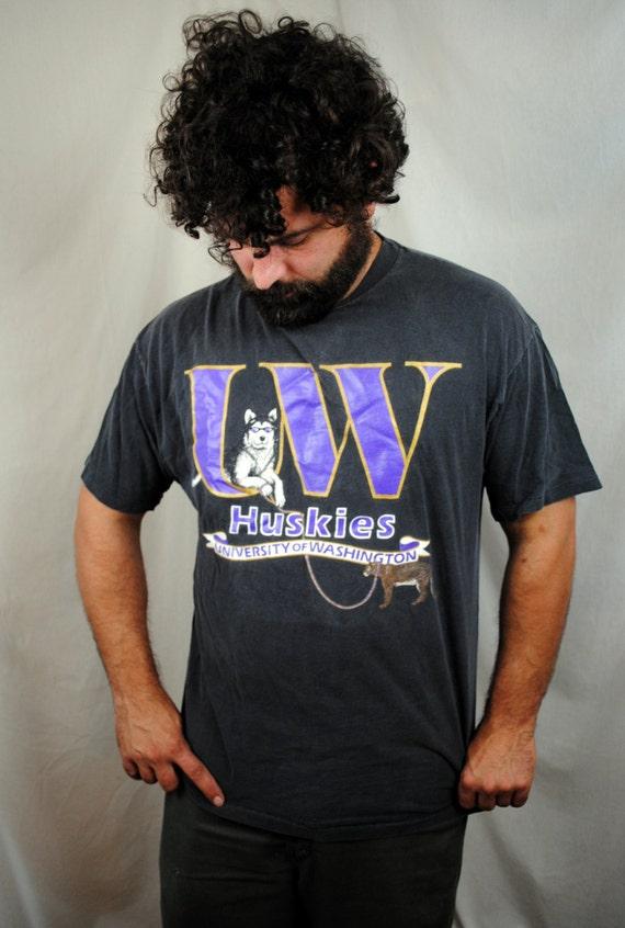 vintage 1990s husky of washington uw shirt xl