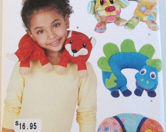 UNCUT Simplicity Sewing Pattern 1518 Child's Animal Neck Pillows