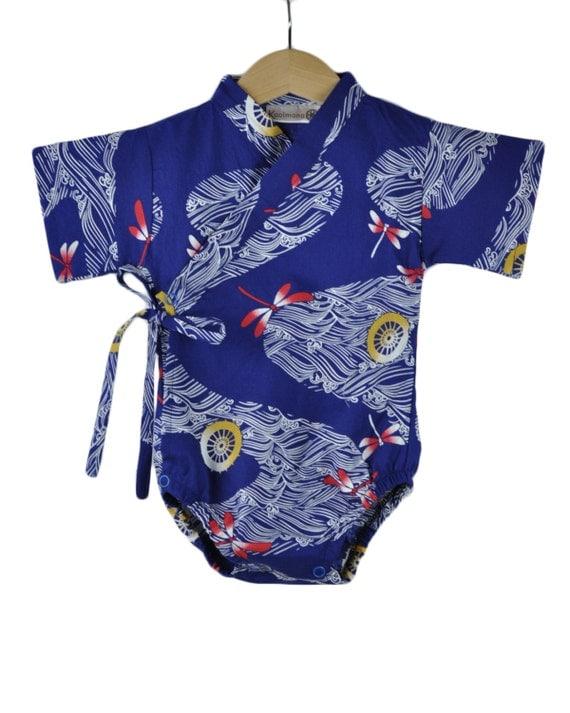 Baby Kimono Bodysuit RED DRAGONFLY Baby boys summer by ...