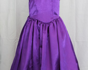 Purple Tea Length Dress