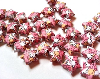 Origami Lucky Stars - Japanese Comic - Chibi (custom orders available)