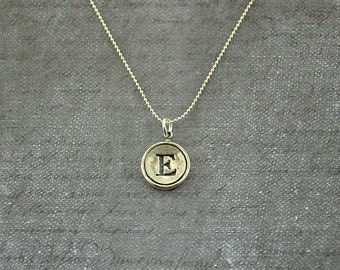 letter e necklace sterling silver initial typewriter key charm necklace gwen delicious jewelry design