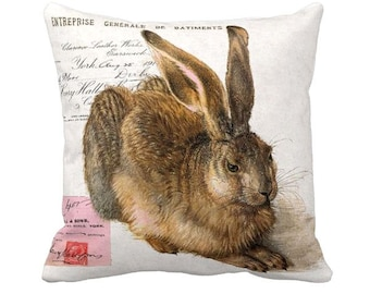 Pillow Cover Bunny Rabbit Woodland Rabbit