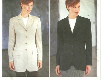Vogue 1820 Designer Sewing Pattern // Blazer Jacket // Size 6 8 10