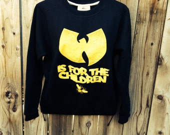 wutang is for the children women's crew-neck sweater