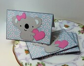 Koala Bear Gives a heart- Blank Cards Thank You Cards Mini Cards ( Set of 4)