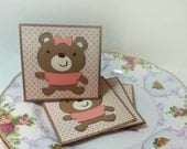 Adorable Baby Bear - Mini cards Thank you Cards Cutomer Thank You Cards( Set of 4)