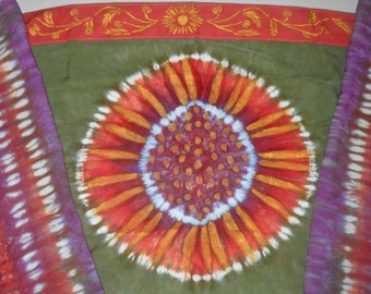 Custom Tie Dye Sunflower Tallit