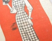 Marian Martin 9260 Rare 1950s Dress Vintage Sewing Pattern Bust 34 Factory Folds