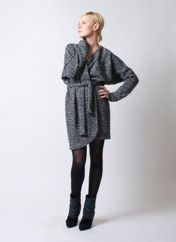 Belted Open Long Cardigan/ Sweater Dress/ Oversize Sweater/