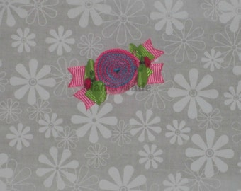 Turquoise, Fuchsia, Hot Pink and Lime Green Mini Candy Ribbon Sculpture Clippie Hair Candy Clip Sweet Shoppe Hairclip Ribbon Candy