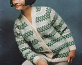 Patons 726 Womens 60s Knitting patterns booklet MOD styles in Mohair Vintage Paper Originals not PDF