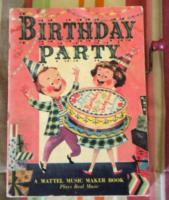 Vintage Mattel Music Maker Book Happy Birthday By
