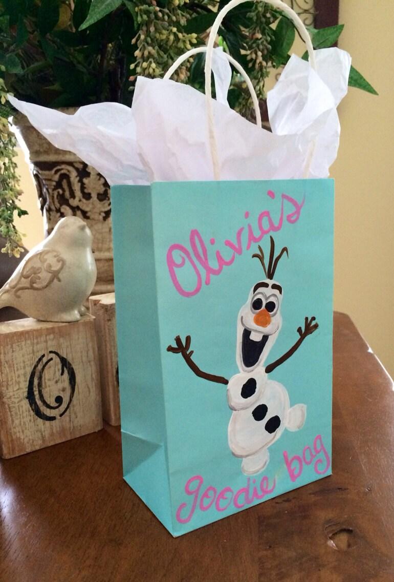 AS Seen On E Hand Painted Custom Kraft Paper Bag Frozen
